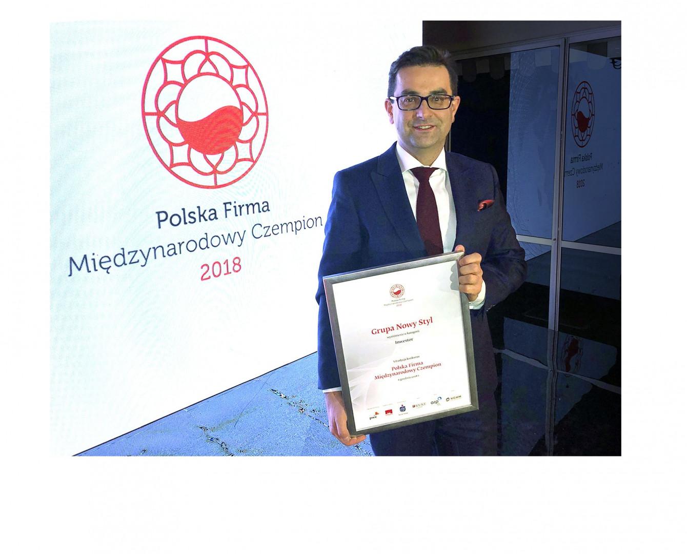 Wyróżnienie odebrał w Warszawie wiceprezes Rafał Chwast.