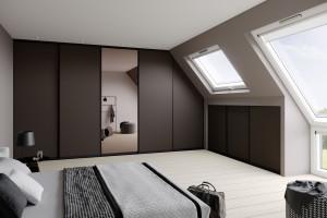 Meble na wymiar - rozwiązanie do sypialni na poddaszu