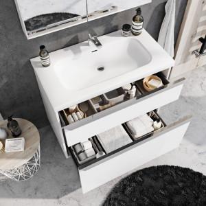 Szuflady w kolekcji mebli łazienkowych