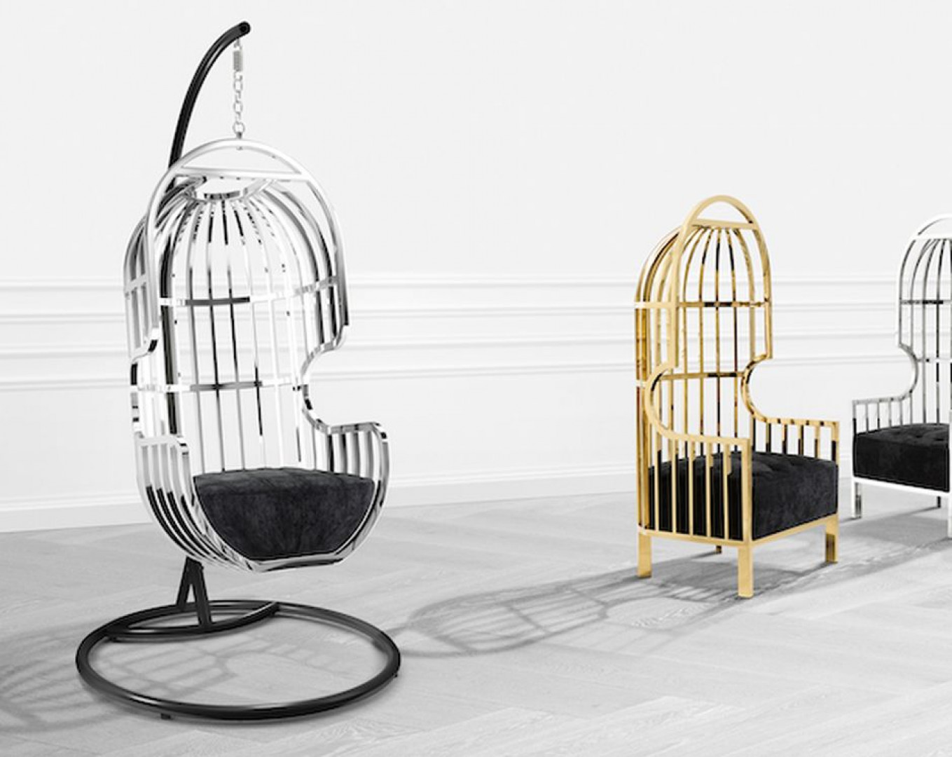 "Fotele ""Bora"" firmy Eichholtz (Clue Studio). Fot. Eichholtz (Clue Studio)"