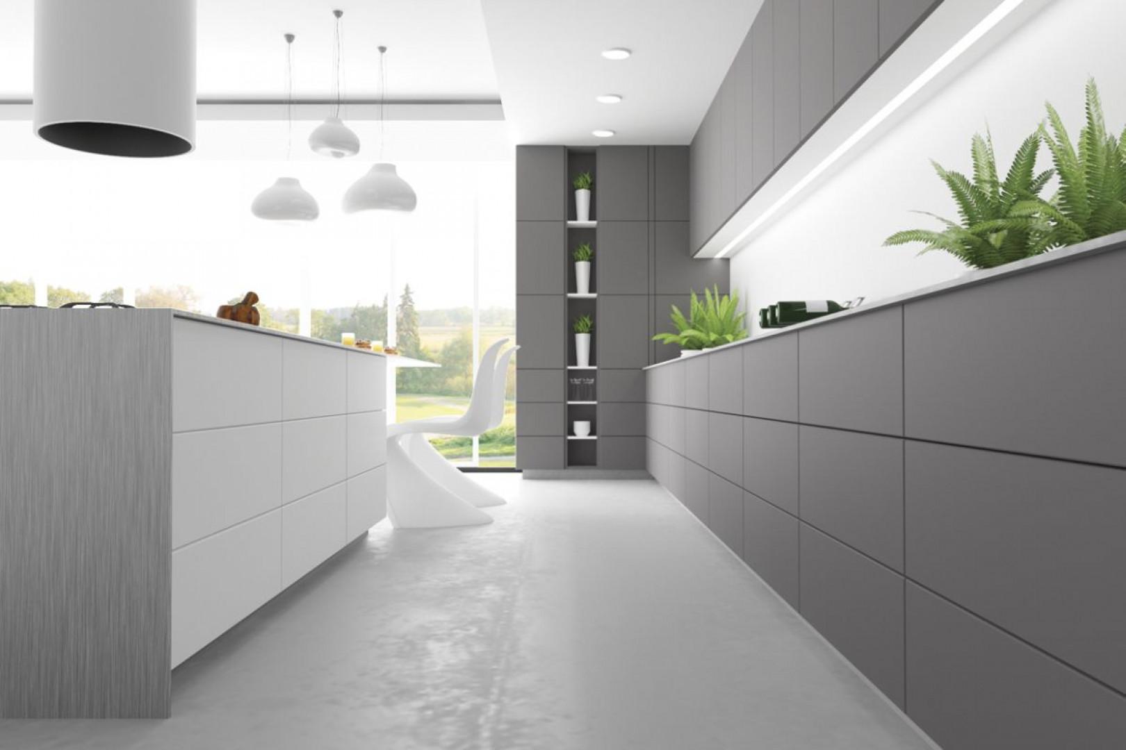 Powierzchnie matowe są coraz chętniej wykorzystywane w nowoczesnych kuchniach. Fot. Hubertus Design