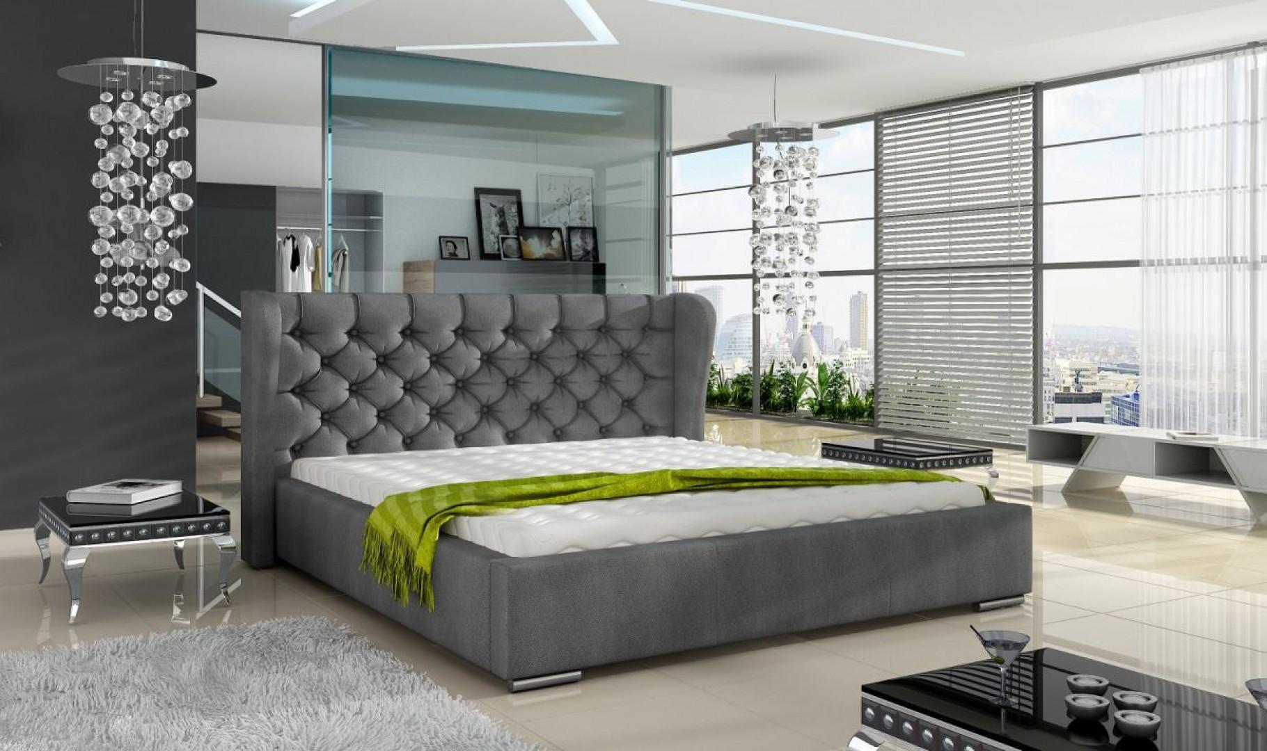 """Łóżko tapicerowane """"Preston"""" marki Comforteo. Fot. Comforteo"""