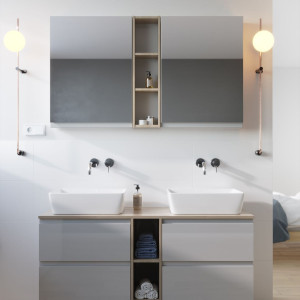"""Kolekcja nowoczesnych mebli łazienkowych """"Moduo"""" firmy Cersanit. Fot. Cersanit"""