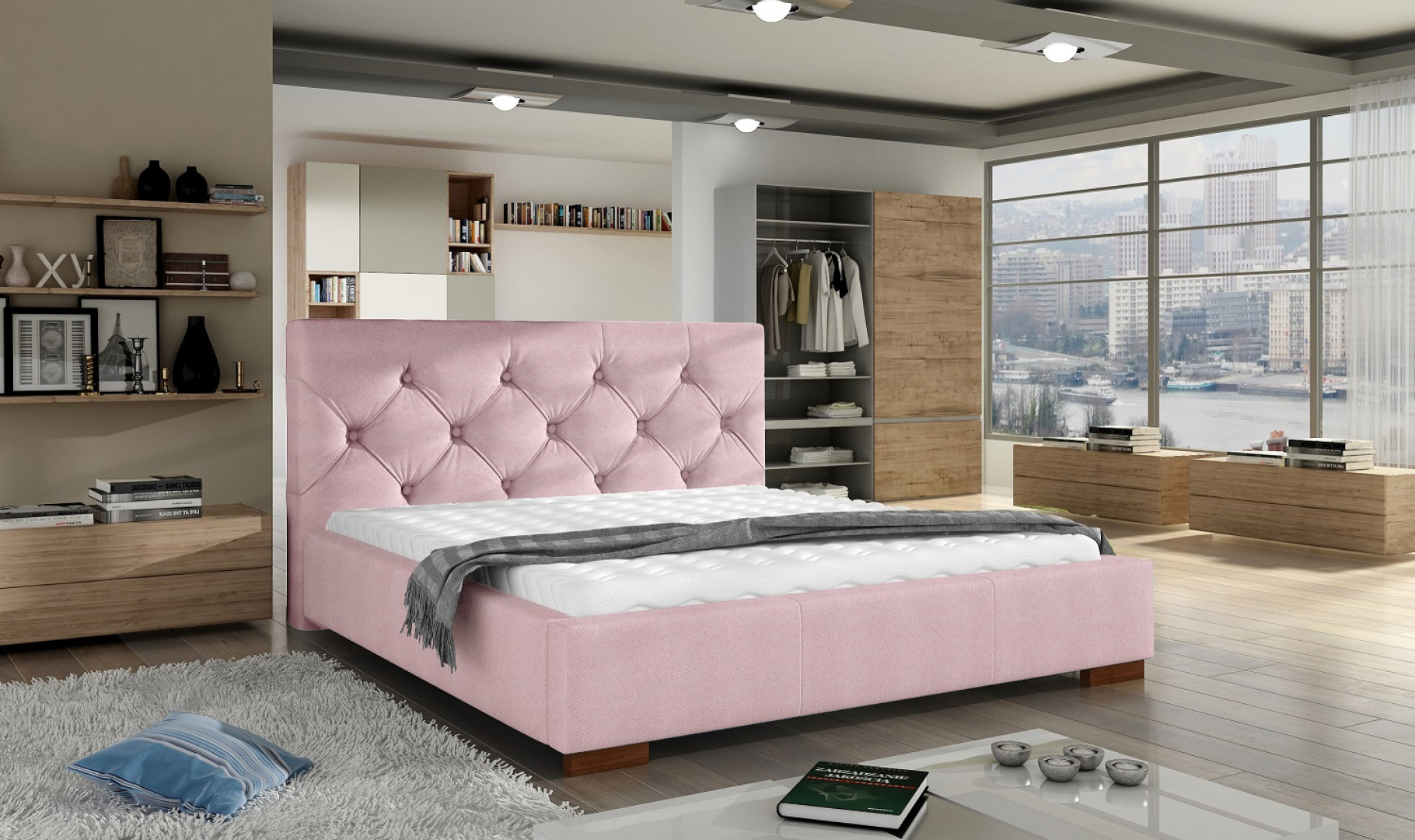 Łóżko tapicerowane Elektra. Fot. Comforteo