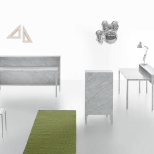 Marmurowe biurka i recepcje z serii