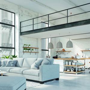 """""""Powściągliwość i nonszalancja"""" to trend, w którym odzwierciedlenie znajduje wciąż modne wzornictwo industrialne: szlifowany beton i wygładzone powierzchnie w połączeniu z metalami, takimi jak czarna stal, a także szkło i sklejka. Fot. Pfleiderer"""