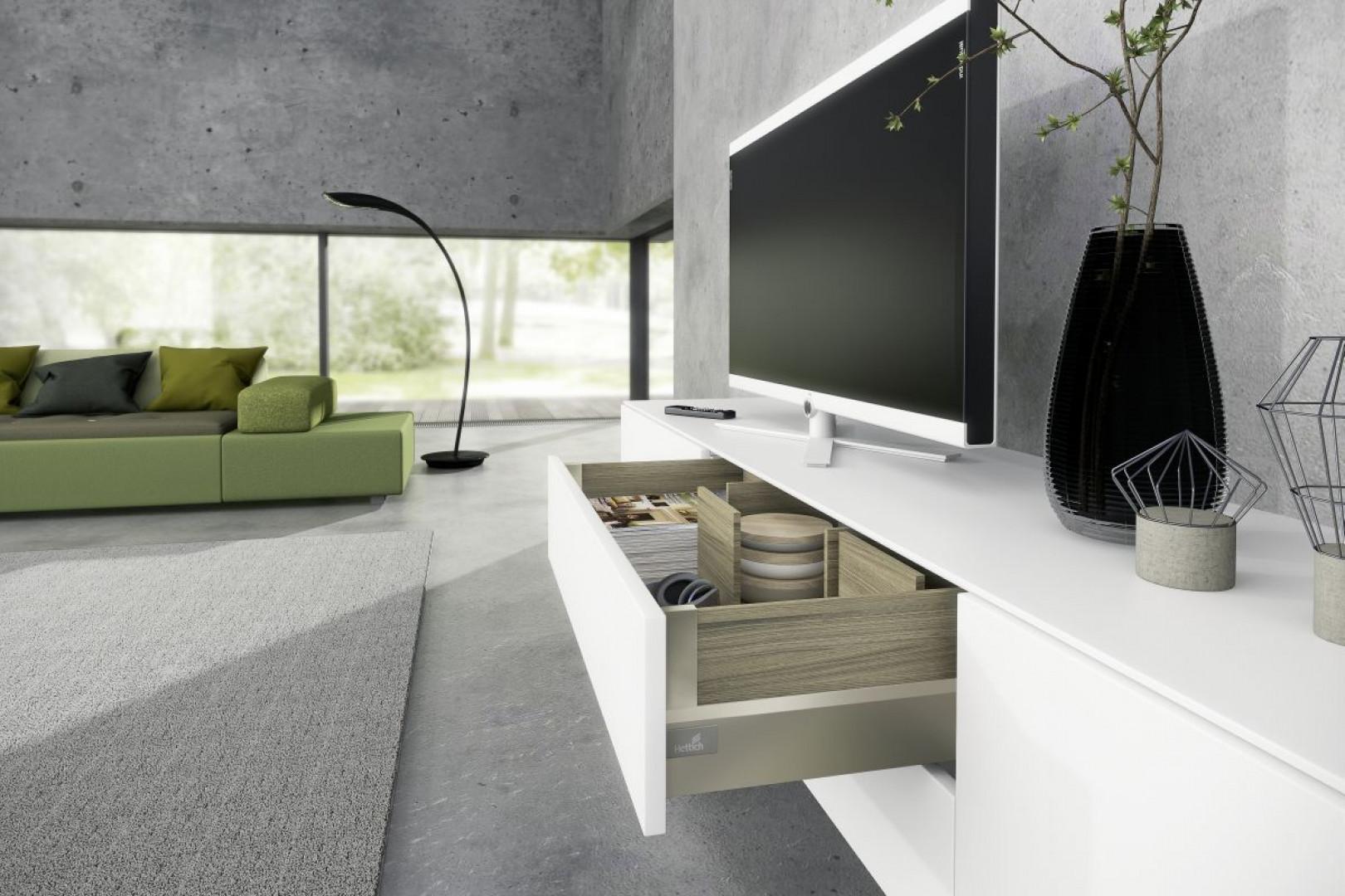 Pięknie skomponowane szuflady będą prezentowały się wyjątkowo okazale w meblach klasy premium. Fot. Hettich