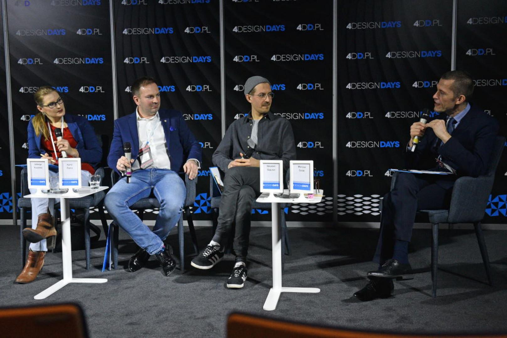 Uczestnicy dyskusji Krzesło nową ikoną designu na 4 Design Days. Fot. PTWP