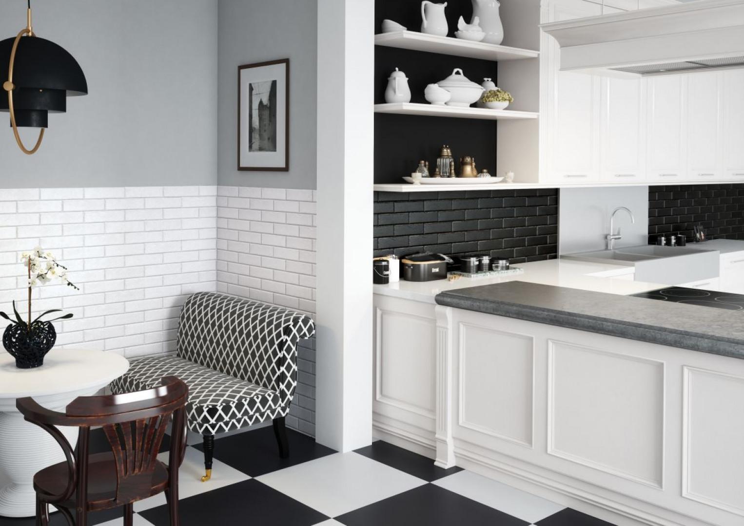 Płytki klinkierowe są jednym ze sposobów wykończenia ścianki przyblatowej w kuchni. Fot. Cerrad