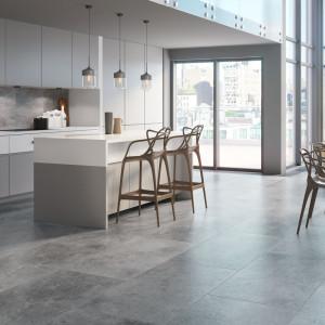 Beton doskonale sprawdza się w minimalistycznych kuchniach. Fot. Cerrad