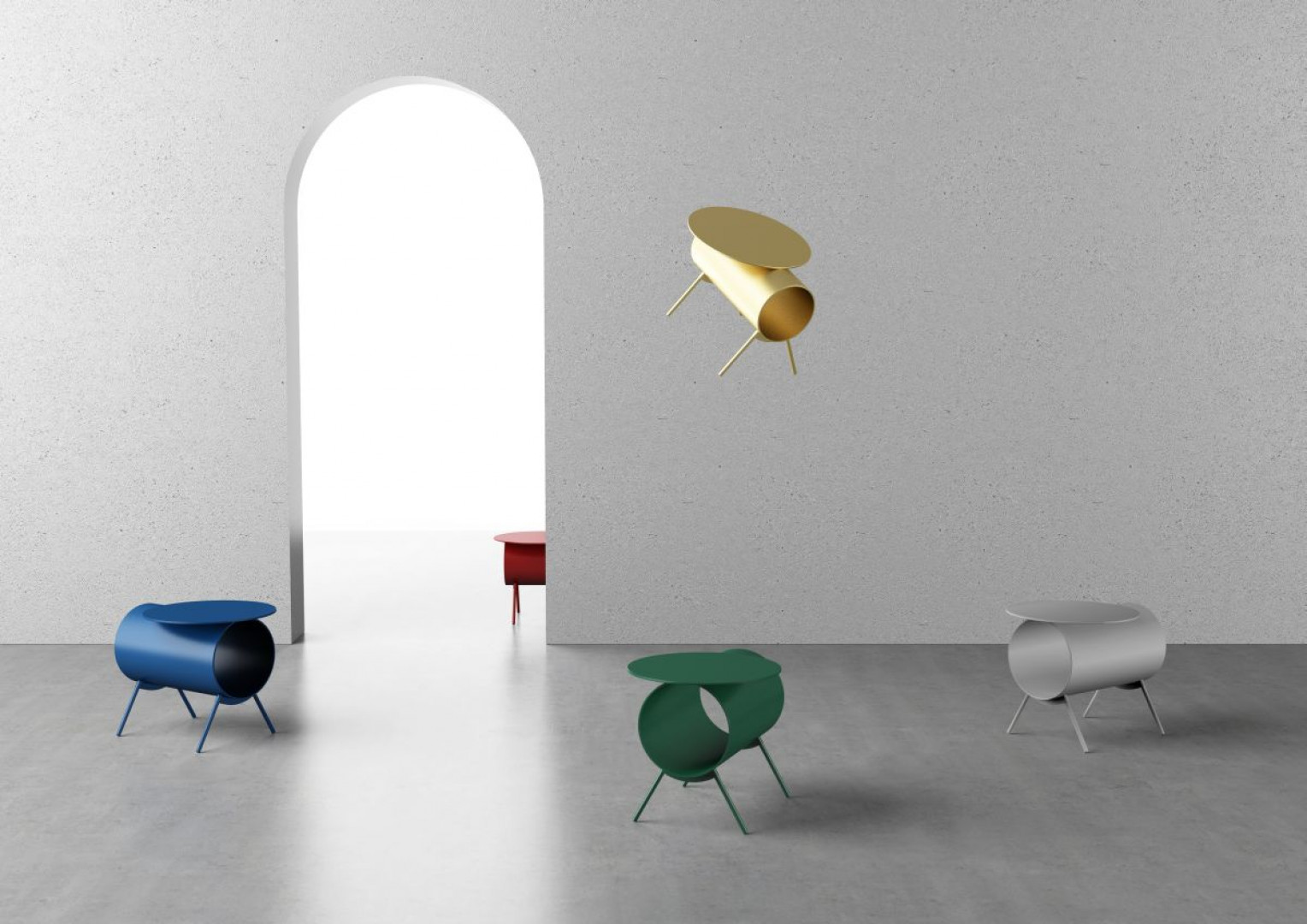 """Jednym z laureatów konkursu The Rising Talent Awards był chiński projektant Mario Tsai. Na wystawie pojawiły się jego fantazyjne stoliki kawowe. Fot. Serwis targów """"Maison & Objet""""/ Aethion"""