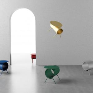Jednym z laureatów konkursu The Rising Talent Awards był chiński projektant Mario Tsai. Na wystawie pojawiły się jego fantazyjne stoliki kawowe. Fot. Serwis targów