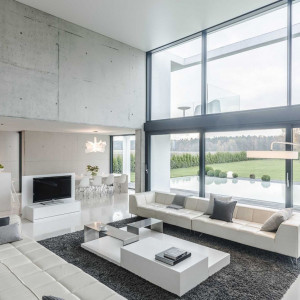 Nagroda główna - projekt domu jednorodzinnego dla rodziny 5 osobowej zlokalizowany w Katowicach. Autor projektu Seweryn Nogalski, Beton House