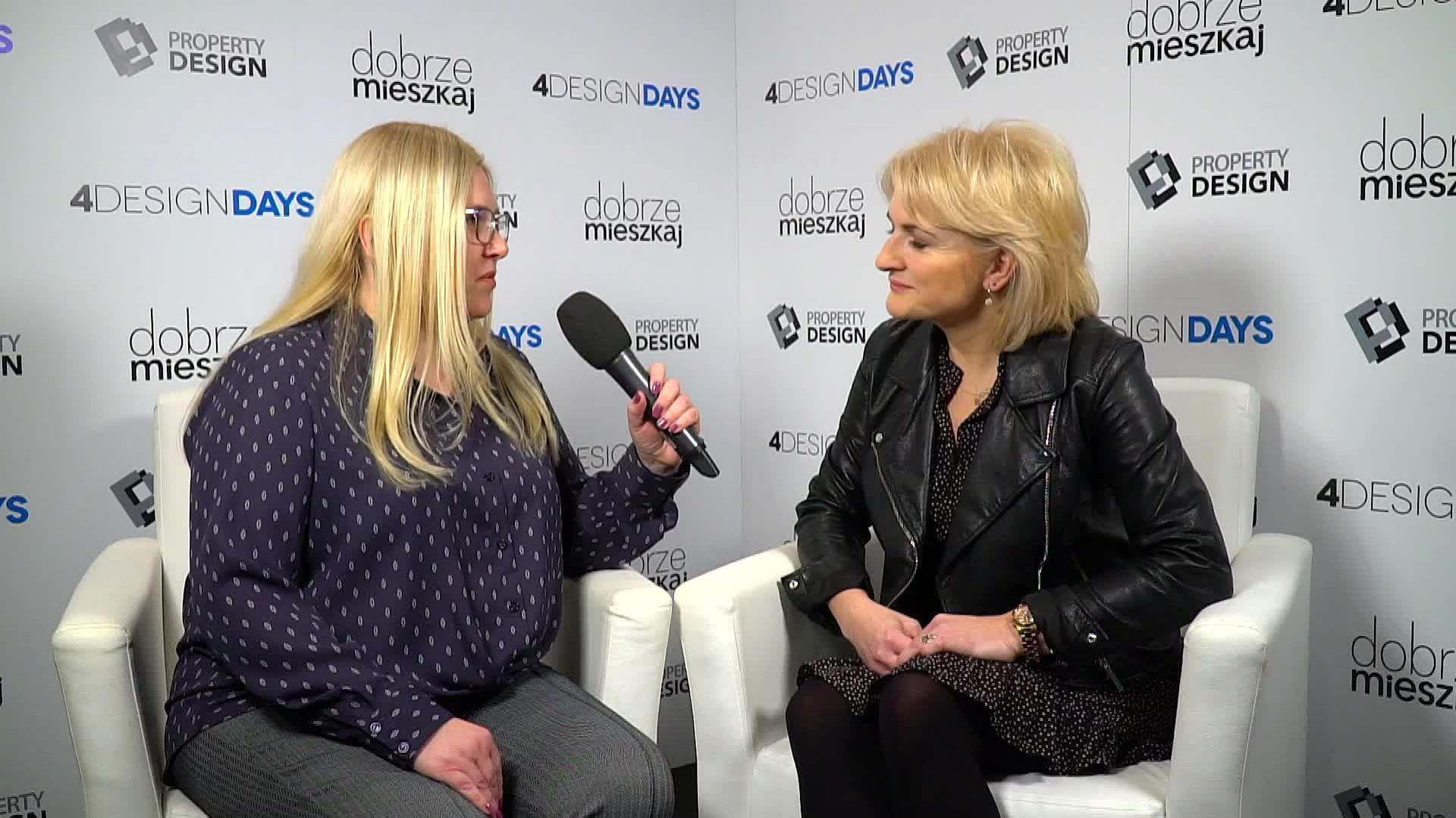 Katarzyna Maciejewska, właścicielka pracowni Maciejewska Design, na 4 Design Days 2019. Fot. PTWP