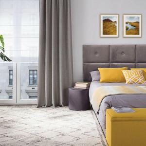 Bardziej wyraziste kolory do sypialni najlepiej jest wprowadzić w postaci dodatków dekoracyjnych. Fot. Dekoria.pl