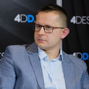 Mariusz Sieradzki, ekspert firmy Rejs, podczas 4 Design Days 2019. Fot. PTWP