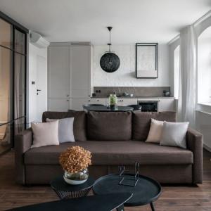 Do projektu wybrano drzwi S1200 Raumplus, które skonfigurowane zostały specjalnie na potrzeby mieszkania. Fot. Tom Kurek