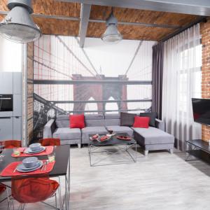 Wnętrze w stylu loft. Projekt Nowa Papiernia. Fot. Bartosz Jarosz