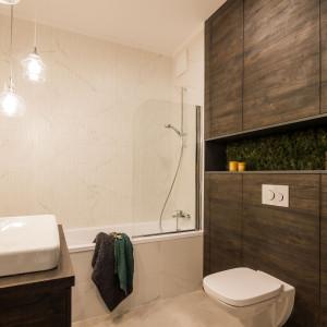 Łazienka w naturalnym stylu. Realizacja - pracownia KODO