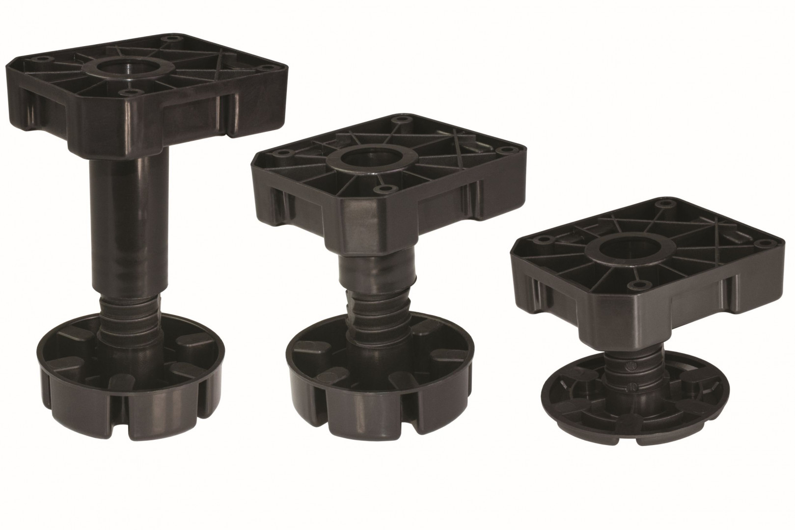 Regulowane nóżki meblowe firmy Sevroll-System. Fot. Sevroll-System