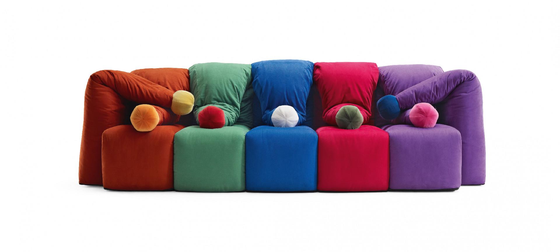 "Sofa ""Il giullare"" firmy Meritalia. Projekt: Gaetano Pesce. Fot. Meritalia"