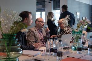 Biznesowe spotkanie przedsiębiorców w salonie BoConcept
