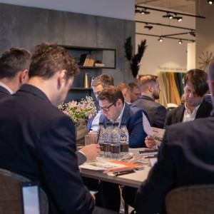 Spotkanie grupy BNI Drive w salonie BoConcept w Warszawie