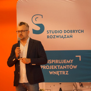 Wystąpienie gościa specjalnego - Macieja Bołtruczyka, właściciela pracowni Projekt MB.