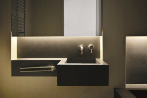 Spieki kwarcowe zastosowane w łazience