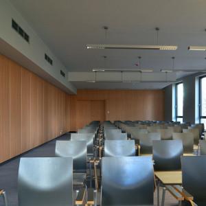 Panele akustyczne w Sądzie Okręgowym w Poznaniu. Fot. Abet Laminati