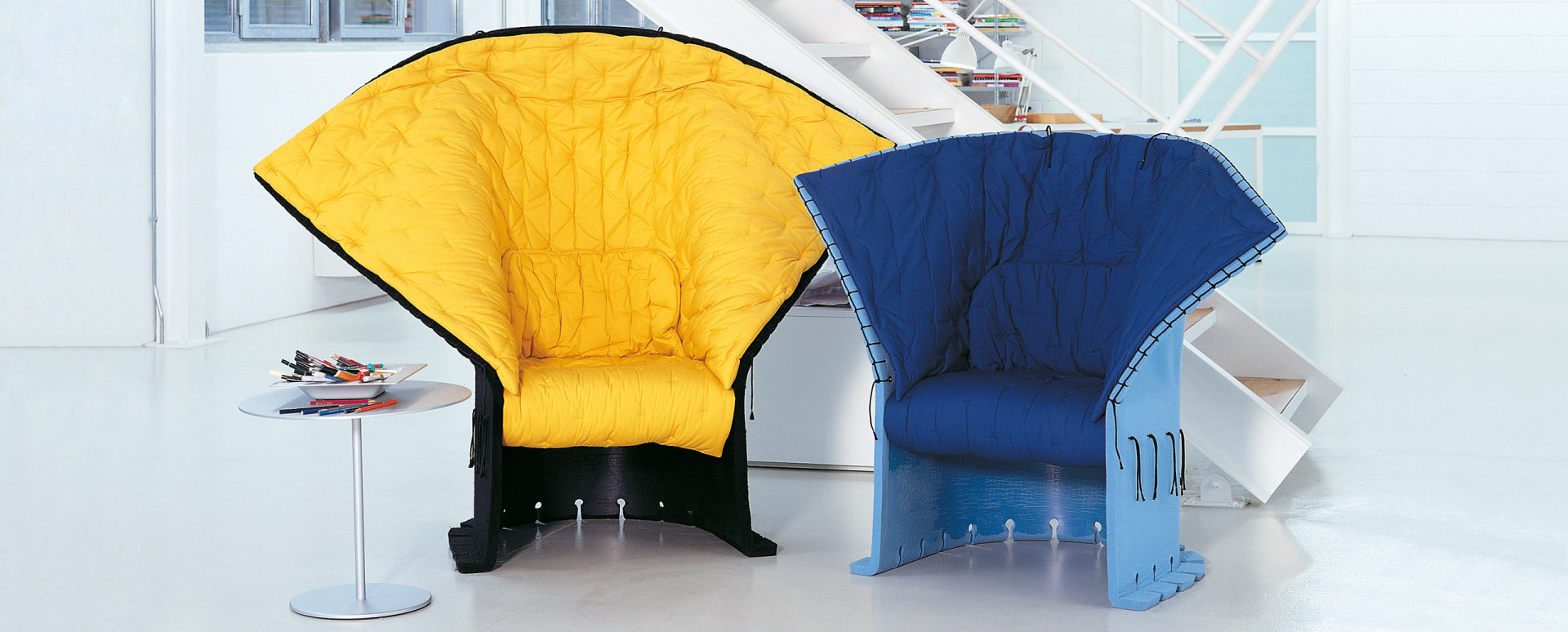 "Fotele ""Feltri"" firmy Cassina. Projekt: Gaetano Pesce. Fot. Cassina"