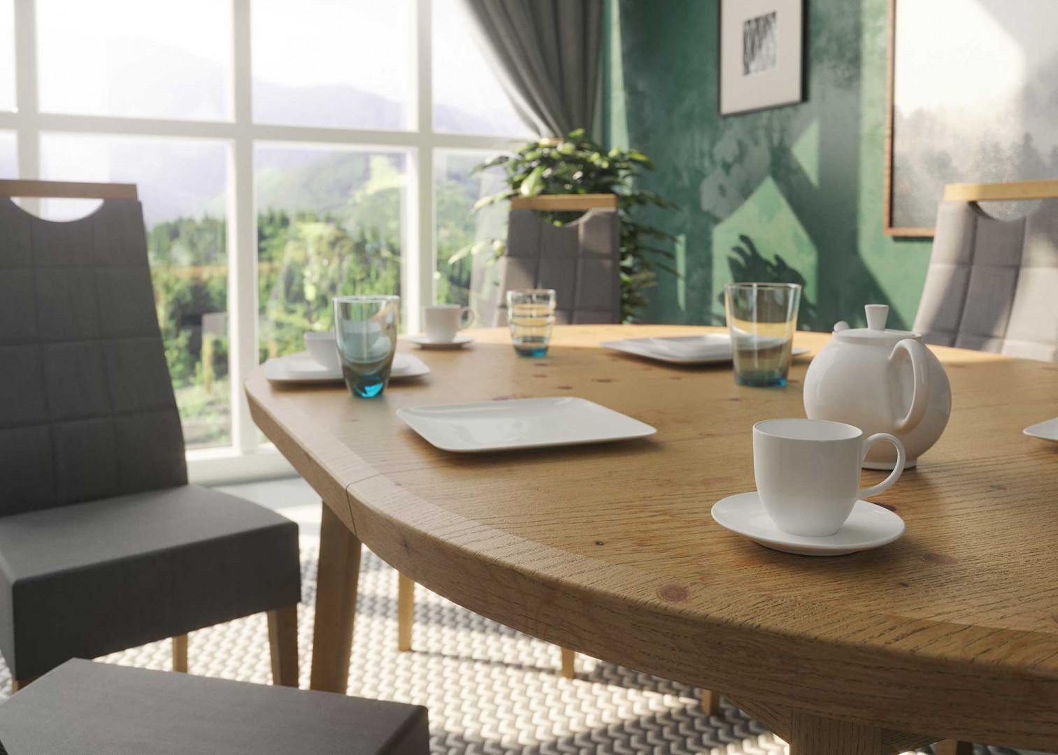 Stół Tondo i krzesła Arco firmy Paged. Fot. Paged