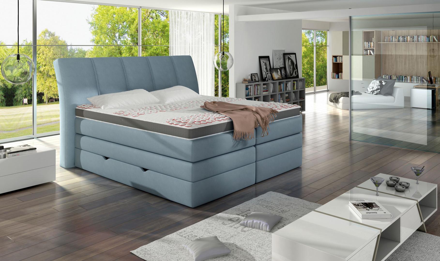 Łóżko kontynentalne Korfu marki Comforteo. Fot. Comforteo