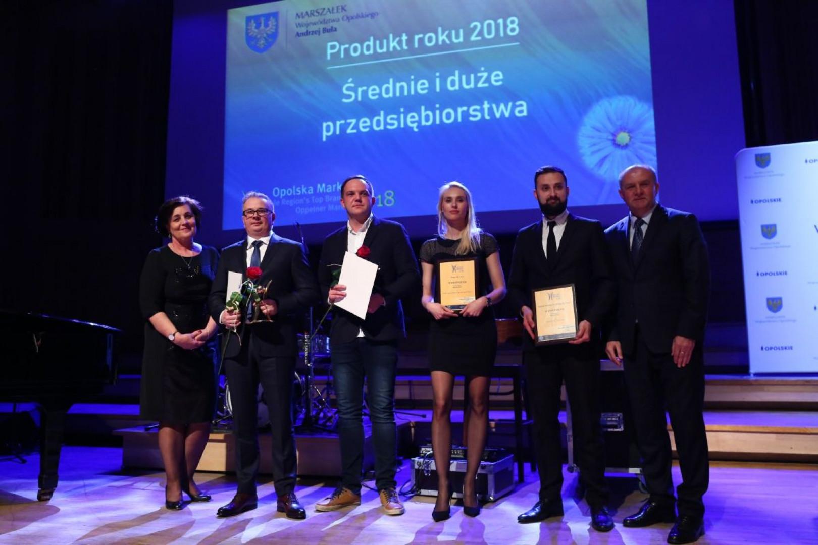Laureaci konkursu Opolska Marka w kategorii Produkt Roku 2018. Fot. Halupczok Kuchnie i Wnętrza