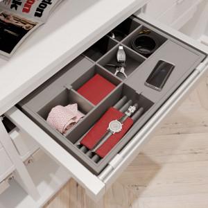 Garderoba ELITE, biała, szuflada na akcesoria
