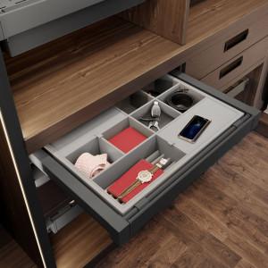 Garderoba ELITE, antracyt, szuflada na akcesoria