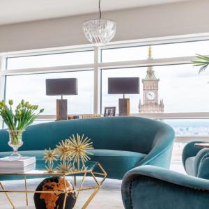 Wnętrze apartamentu zlokalizowanego na 46 piętrze Złotej 44. Fot. Clue Studio