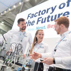 Na Targach w Hanowerze 2019 Bosch pokazał innowacyjne rozwiązania dla Fabryki Przyszłości. Fot. Bosch
