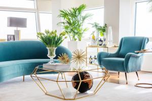 Wyjątkowy apartament z meblami w stylu glamour