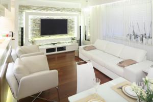Białe meble w salonie - pomysły z polskich mieszkań