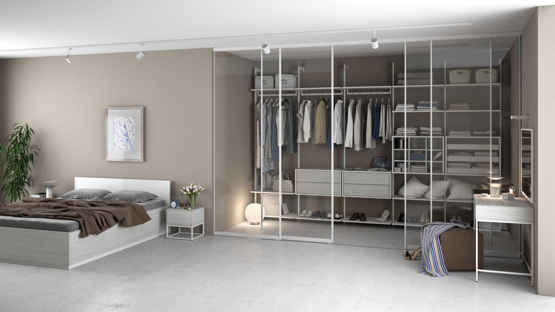 System drzwi przesuwnych Szafir, zastosowany w sypialni. Fot. Komandor