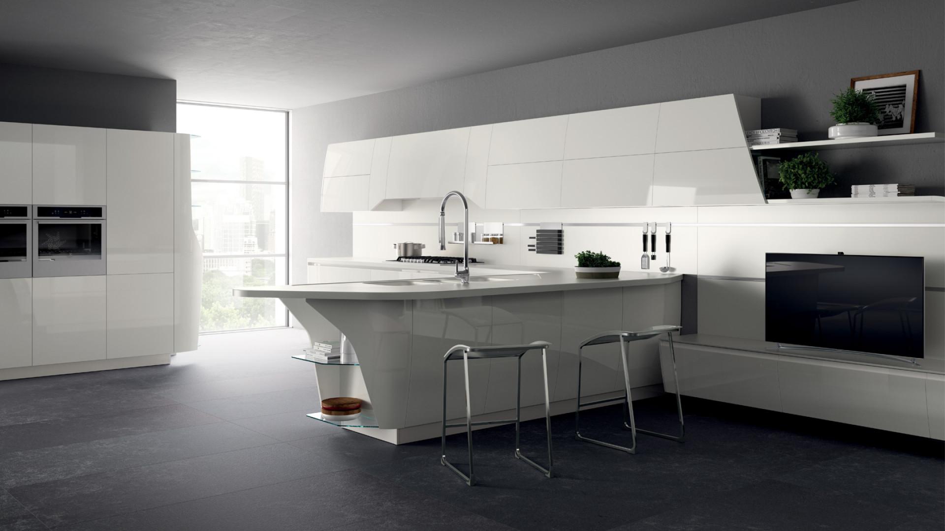 "Kuchnia ""Flux Swing"" firmy Scavolini. Projekt: Giugiaro Design. Fot. Scavolini"