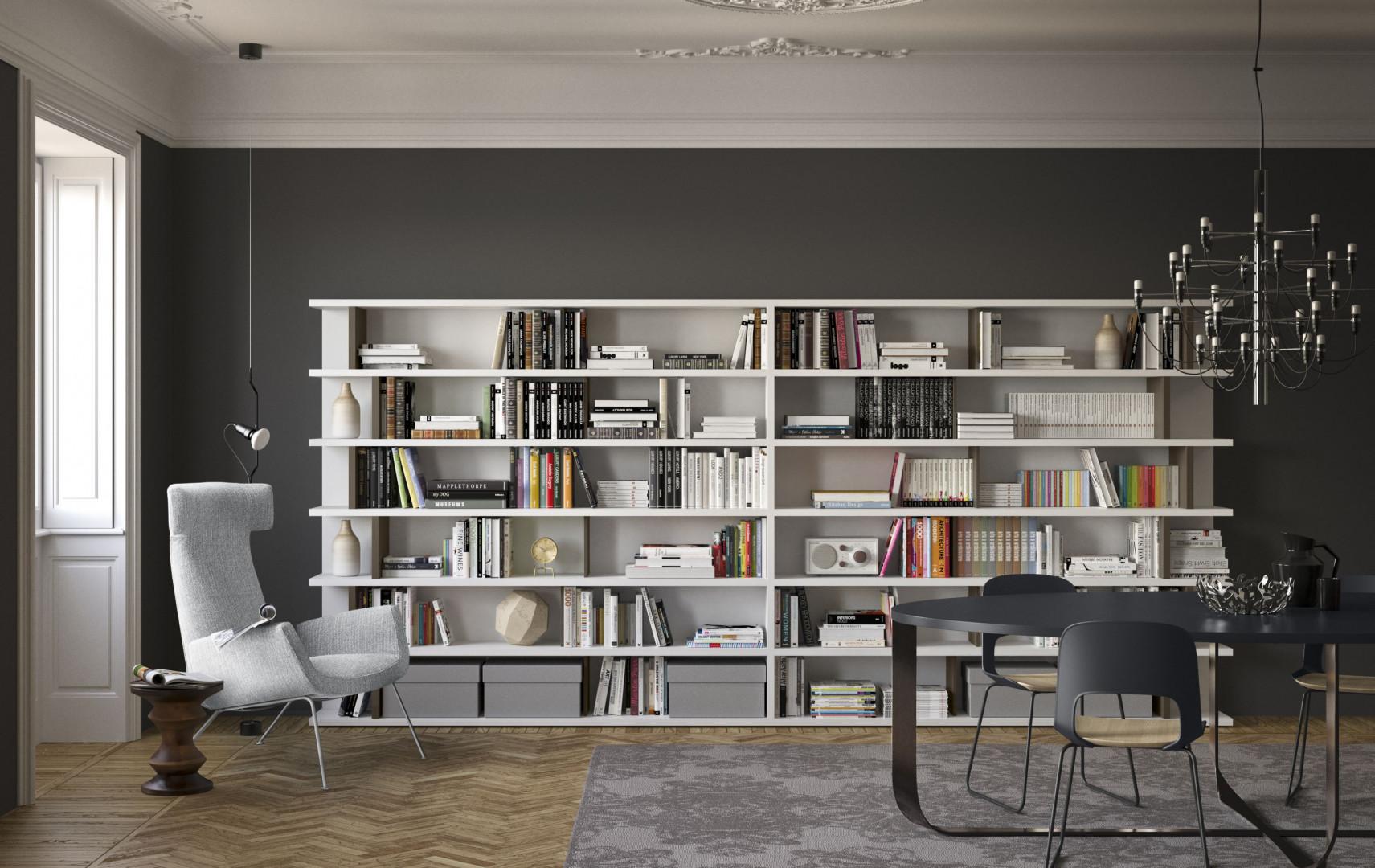 Biała biblioteczka. Fot. Pianca