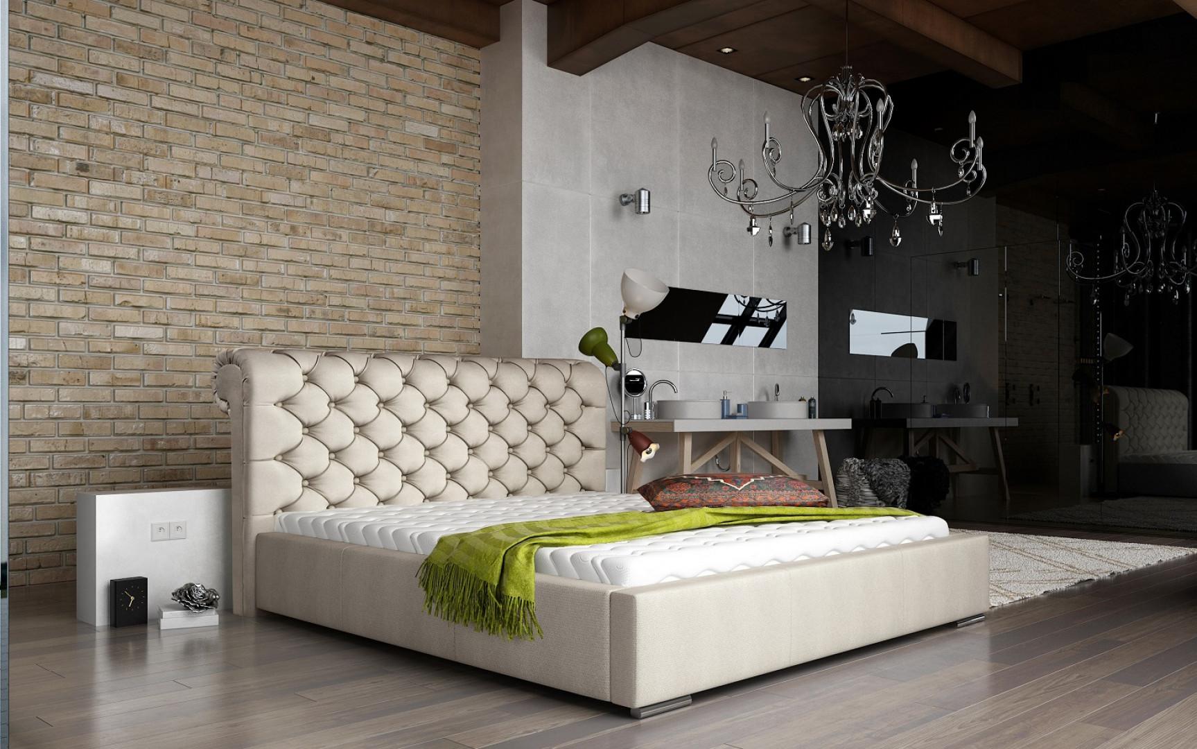 Łóżko tapicerowane Manchester. Fot. Comforteo