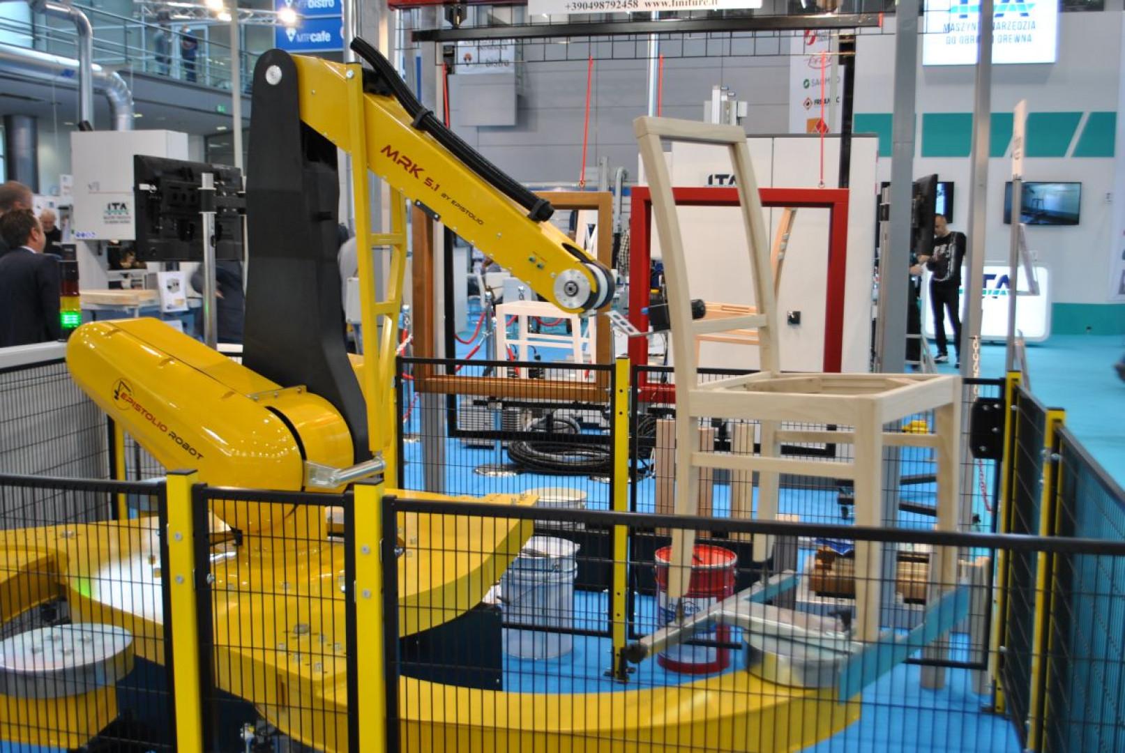 Robot MRK 5.1 włoskiej marki Epistolio prezentowany podczas targów Drema na stoisku firmy ITA. Fot. Mariusz Golak
