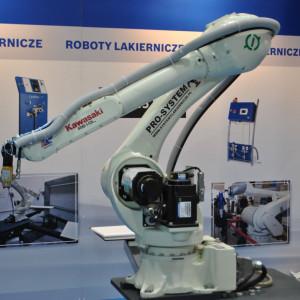 Robot firmy Kawasaki Robotics. Fot. Mariusz Golak