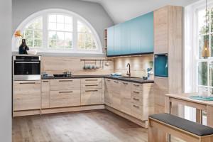 Efektowne połączenia dwóch kolorów w kuchni