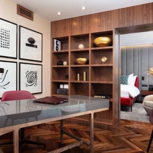 Apartament Prezydencki (gabinet). Projekt: Didier Gomez. Fot. Sofitel Warsaw Victoria