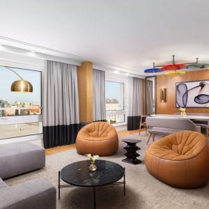 Apartament Opera (salon). Projekt: Didier Gomez. Fot. Sofitel Warsaw Victoria