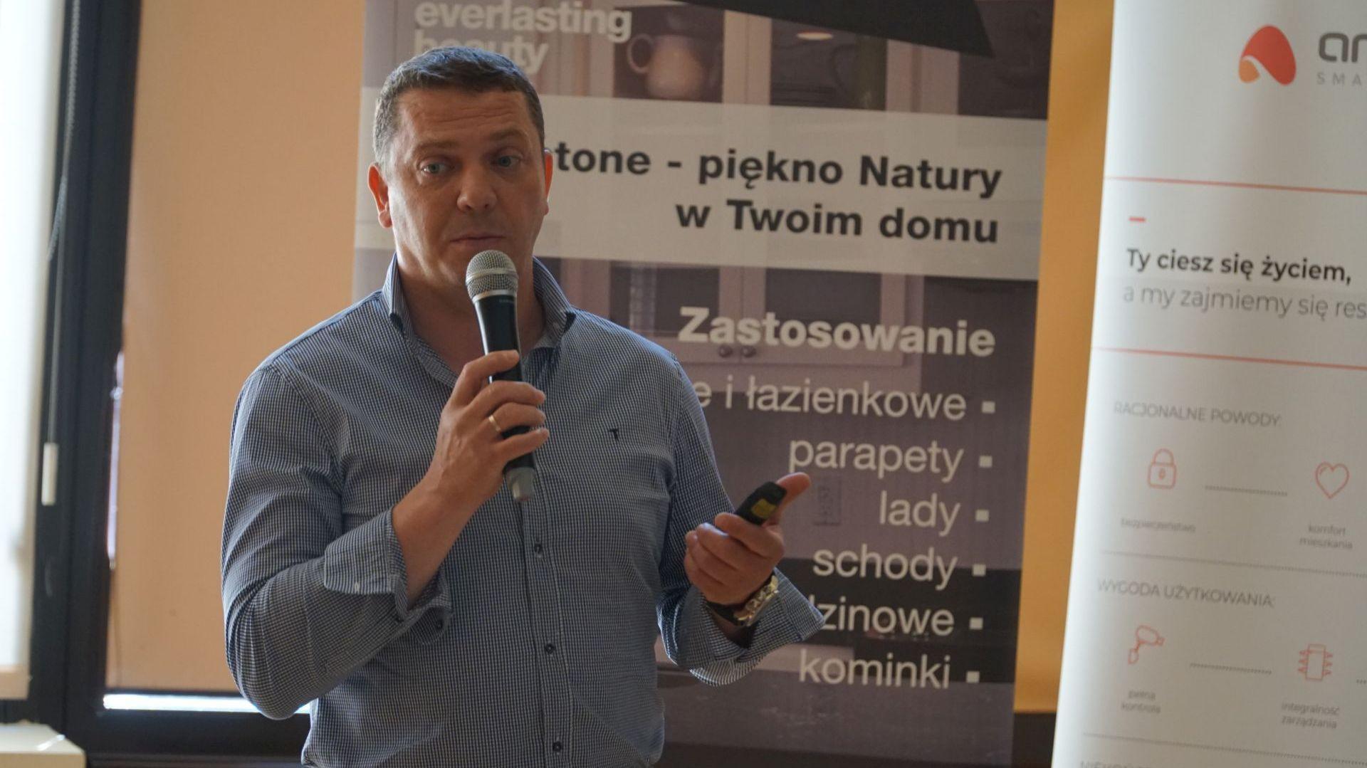 Rafał Przygocki z firmy Marmorin Design